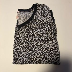 Victoria's Secret Leopard Thermal Pajama Set
